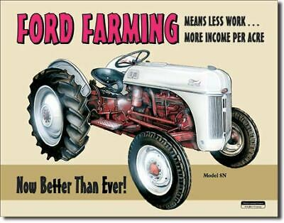 Ford Farming Tractor Vintage Tin Metal Sign Garage/Man Cave Wall Art