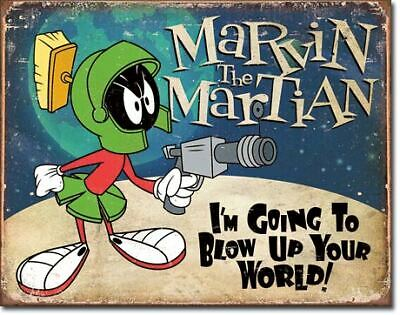 Marvin The Martian Vintage Tin Metal Sign Garage/Man Cave Wall Art