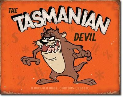 The Tasmanian Devil Vintage Tin Metal Sign Garage/Man Cave Wall Art
