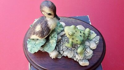 Rare Vintage Border Fine Arts Duckling and Frog cute item mint condition Boxed