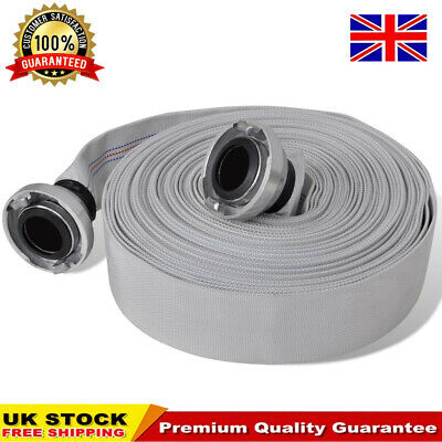 """Fire Hose ,Lay Flat 1"""" 2"""" Dia X 20M 30M Long With Quick Connect Couplings Bowser"""