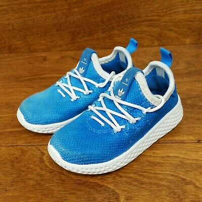 a33cb77ab9d5f Adidas Pharrell Williams Tennis HU (Toddler Size 6K) Athletic Shoes Blue  White
