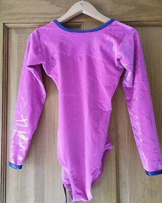 SALE TAPPERS & POINTERS SLEEVEd GIRLS GYMNASTICS LEOTARD GYM LEO 9-10 Y (2)