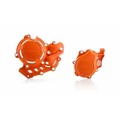 Acerbis X-Power Engine Cover - KTM/ Husq EXC-F 450/500, FE/FC 2018-19 - Orange