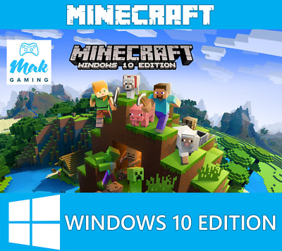 Minecraft Windows 10 Edition, PC, CD KEY, Activation Key Only, Global