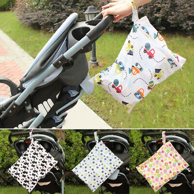 Baby Nappy Reusable Washable Wet Dry Cloth Zipper Waterproof Diaper Bag Colorful