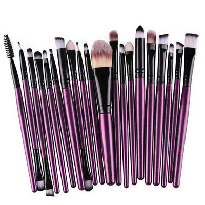 20PCS Stylish Makeup Brushes Kit Set Powder Foundation Eyeshadow Lip Brush Tool