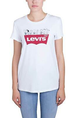 dee8fce7333 LEVI'S x Peanuts Women - White cotton Batwing logo T-Shirt with Snoopy print