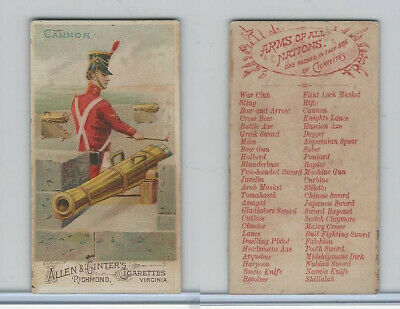 N3 Allen & Ginter, Arms of all Nations, 1887, Cannon