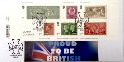GB FDC. 2019 CLASSIC STAMP miniature sheet issue 15/01/20199