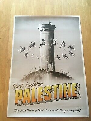 ORIGINAL GENUINE BANKSY ** PALESTINE POSTER ** Walled off Hotel Not WTM