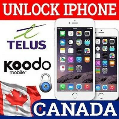 UNLOCK TELUS & KOODO CANADA ALL iPHONE - CLEAN IMEI-