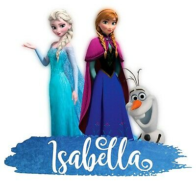 Personalised Any Name Frozen Wall Decal 3D Art Stickers Vinyl Room Bedroom 8