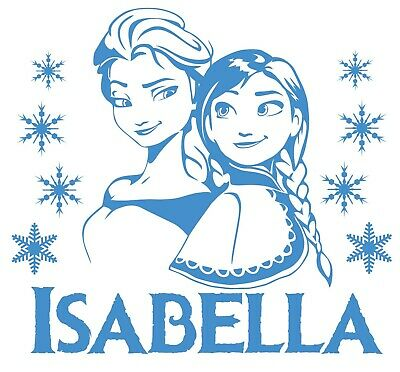 Personalised Any Name Frozen Wall Decal 3D Art Stickers Vinyl Room Bedroom 9