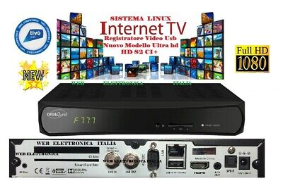 Decoder Sat.full Hd S2+Tivusat Compatibile Tv Svizzera, Senza Card 220/12 V,