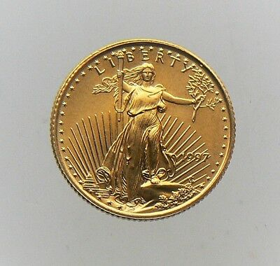 1997 1/10 OZ $5 GOLD EAGLE COIN BU Brilliant Uncirculated