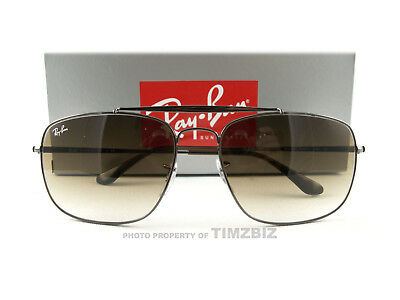 2899d8a261 New Ray-Ban Sunglasses RB3560 Colonel Gunmetal Brown 004 51 Authentic