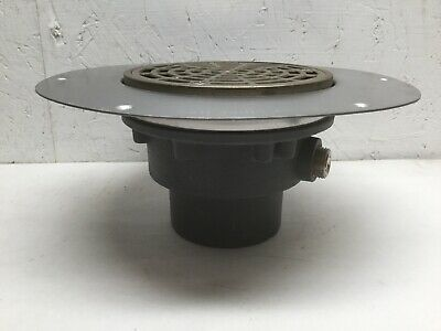 Sioux Chief Mfg 822-3DNR Halo Adjustable Floor Drain W/ Deck Flange Ductile Iron