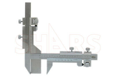 "Shars 20-2 & 10-1"" Diametral Gear Tooth Vernier Caliper New"