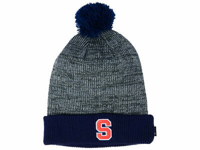 cd97d2a106c NIKE Syracuse Orange Cuffed Knit Hat Beanie Cap with Removable Pom Adult NEW