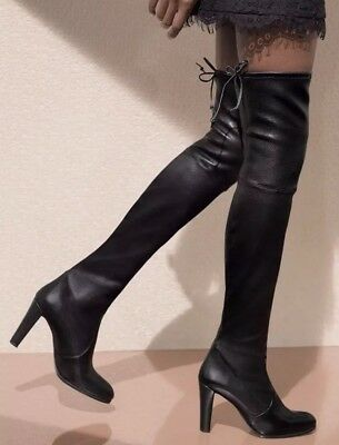 1eb15cb26dc NEW Stuart Weitzman  Highland  Over The Knee Boots Black Leather ...