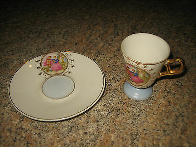 Vintage Footed Tea Cup And Saucer~Made In Japan~So Gorgeous~L@@k~Very Pretty