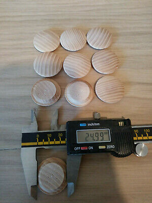 Solid Beech Mushroom Head Plugs// Cover Caps for 15mm Hole-Stairs//Joinery Buttons