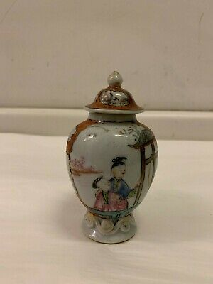 Antique Chinese Export Famille Rose Porcelain Covered Tea Caddy, circa 1770