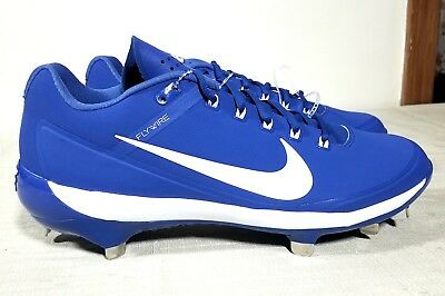 check out 84355 05bb1 Nike Air Clipper 17 Metal Baseball Cleats Mens Size 11 Blue White 880261-415