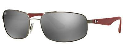 39232b89a4 RAYBAN NEW AUTHENTIC RB3527 029 6G MATTE GUNMETAL   RED w SILVER MIRROR  LENSES