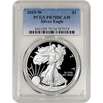 2019-W American Silver Eagle Proof - PCGS PR70 DCAM