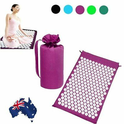 ProSource Acupressure Mat W/ Bag Set Back Neck Pain Relief Muscle Relaxation AU