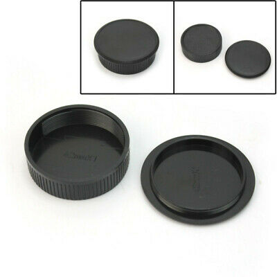 Camera Body And Rear Lens Cap for Universal M42 Screw Mount Lens NEW Black