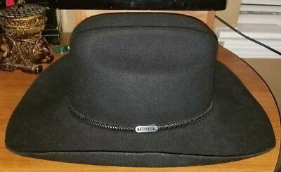 0a8f9a5b592 RESISTOL AMBUSH COWBOY Hat 4 XXXX Beaver Made in Texas size 7 1 2 ...