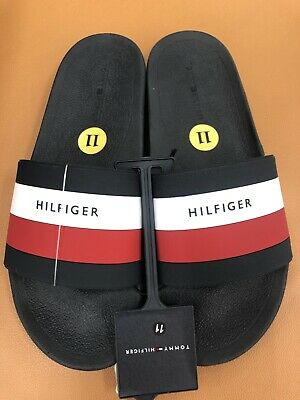 b6c8ceda09a TOMMY HILFIGER EARTHY Slides Sandals Dark Blue Men s Size 11 ...