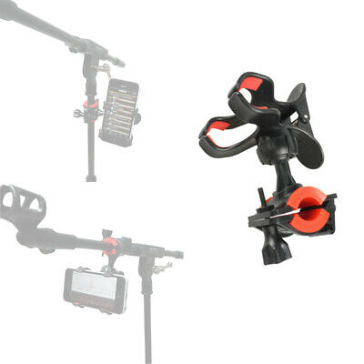 Universal Microphone Mic Stand Phone Holder Clip for iPhone Samsung Smart Phones