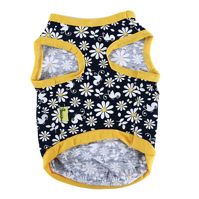 Cartoon Flower Printed Small Dog Vest Puppy Clothes Breathable Vest Pet LG