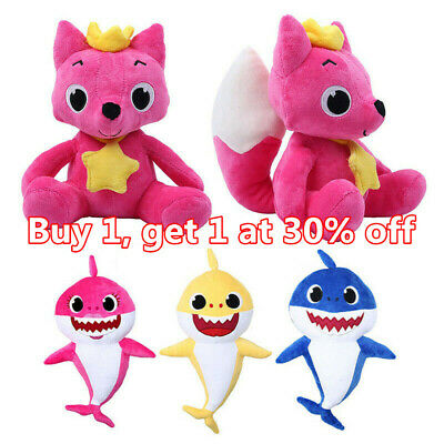 Hot PinkFong Baby Kids Animal Shark Plush Singing Stuffed Plush Toy Doll Gift