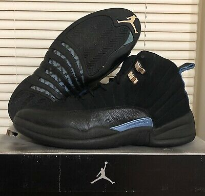 info for cd112 4630d NIKE AIR JORDAN XII 12 Retro Black/University Blue Sz 11.5 136001-014 OG