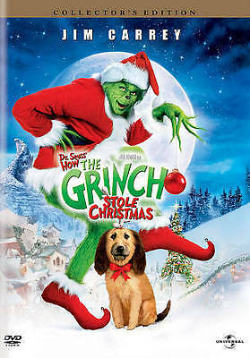Dr. Seuss: How The Grinch Stole Christmas Collector's Edition Dvd-Free Shipping!