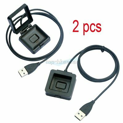 2pcs USB Charging Cable Cradle Dock Charger For Fitbit Blaze Smart Fitness Watch