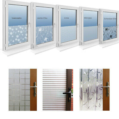 Room Bathroom Home Window Door Privacy Bath Film Sticker PVC Frosted Static