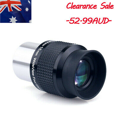"""GSO 1.25"""" Wide Angle 15mm Telescope Eyepiece FMC Lens for Astronomy AU STOCK"""