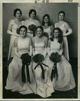 1976 Press Photo Carnival Ball - High Priests of Mithras Maids- - noca02478