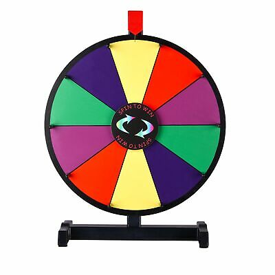 """WinSpin® 15"""" Color Prize Wheel 10 Slots Tabletop Spinning Dry Erase Fortune Game"""