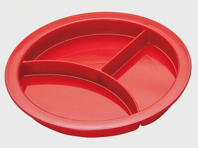 Divided Plate - Portion Plate - Adult sectioned Eating aid. Red
