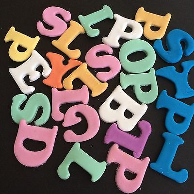 Edible Letters- Cake Cupcake  Birthday Cake Toppers