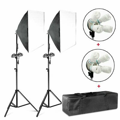 1600W Softbox Light Stand Photo Studio Photography Continuous Lighting Kit US HO