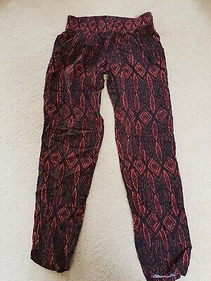 Girls black aztec print trousers NEW LOOK age 9