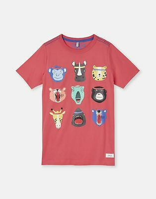 Joules Screenprint Tee in NAVY ANIMAL HEADS